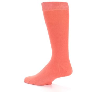 Coral Reef Solid Color Men's Dress Socks - boldSOCKS