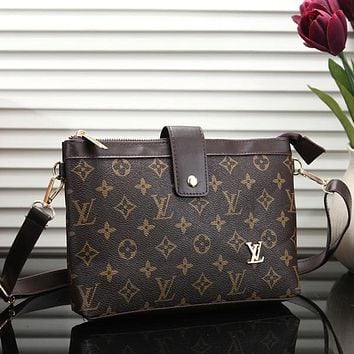 Louis Vuitton LV Fashion Leather Crossbody Handbag Shoulder Bag Satchel