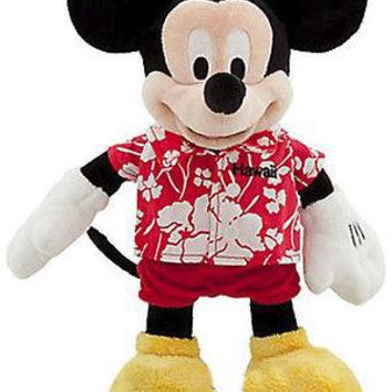 "Licensed cool 12"" Disney Store Hawaii EXCLUSIVE MICKEY MOUSE plush Island Vacation doll NWT"