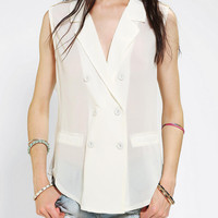 byCORPUS Sleeveless Double-Breasted Blouse