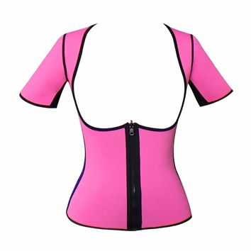 2017 new Blue XS - 5XL plus size women sweat enhancing vest  waist corset waist trainer sauna suit sexy vest hot shaper body