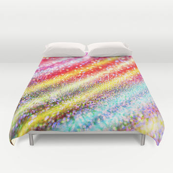 glitter stripes Duvet Cover by Haroulita