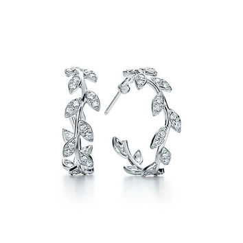 Tiffany & Co. - Paloma Picasso®:Olive Leaf Hoop Earrings