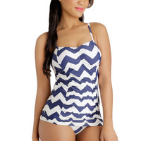 ModCloth Americana Kite on Time Swimsuit Top