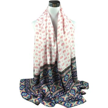 180*90CM Long Scarf 2017 New Arrival Autumn Winter National Style Women Printed Cotton Blended Sarong Wrap Shawl Scarves poncho