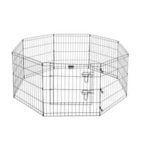 "Pet Trex 24"" Exercise Playpen for Dogs Eight 24"" x 24"" High Panels with Gate"
