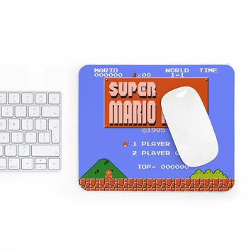 Super Mario Bros Start Menu Mouse pad