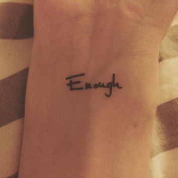 Temporary Tattoo | Enough | Tattoo Art | Ring Tattoo | Finger Tattoo | Wrist Tattoo | Tattoo | Mini Tattoo | handmade by misssfaith