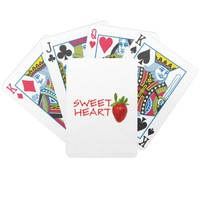 Strawberry Sweetheart Bicycle Playing Cards
