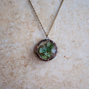 Lichen Terrarium Locket by Heron and Lamb