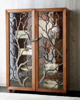 """Tree Branch"" Display Cabinet - Horchow"