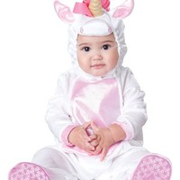 Infant Girl's InCharacter Costumes 'Magical Unicorn' Footie & Hat,