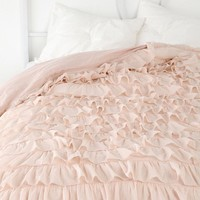 urban outfitters ruffle duvet pink - Google Search