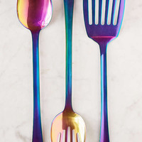 3-Piece Metallic Serving Utensil Set | Urban Outfitters