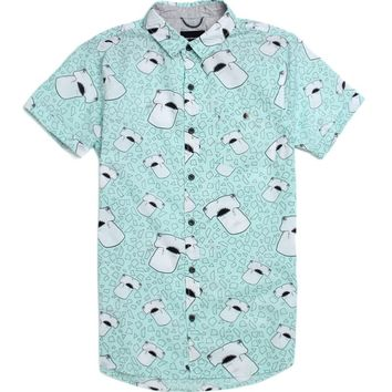 Modern Amusement Hammerheads Short Sleeve Woven Shirt - Mens Shirt