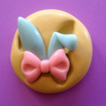 Easter BUNNY Ears Silicone MOLD - Resin, Fondant Mold, Fondant Topper, Soap, Cupcake Topper, Bunny Mold, Clay Mold, Chocolate Mold, Craft