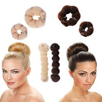 Hot Sale Womens Fashion 2pcs Different Sizes Elegant Magic Buns Hair Accessories = 1706388612