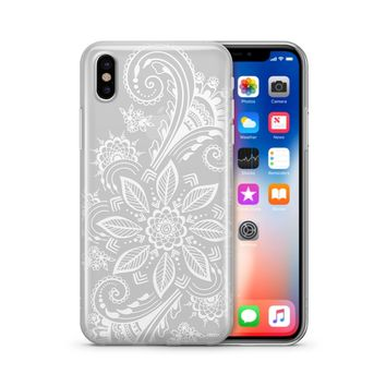 Mehndi Henna - Clear TPU Case Cover Phone Case