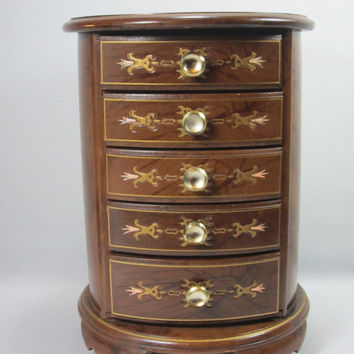 Wood Jewelry Box Musical Jewelry Box By London Leather Wood Jewelry Chest