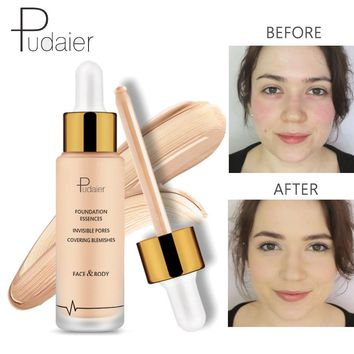 Pudaier Foundation Cream Moisturize Liquid Foundation Make Up Concealer Base Bb Foundation Full Coverage Face Foundation Makeup