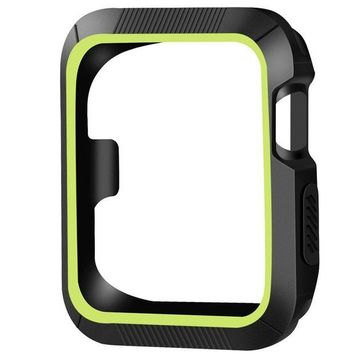 DCCKNY1 OULUOQI for Apple Watch Case 42mm, Shock-proof and Shatter-resistant Apple Watch Protector iwatch Case for Apple Watch Series 3, Series 2, Series 1, Nike+, Sport, Edition- Black / Volt Yellow