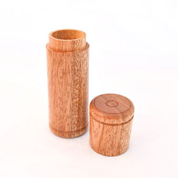 "Exotic Niangon Wood Standing Wooden Needle Case for Needles up to 5"" / 12.5cm, Needle Holder"