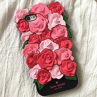 Kate Spade rose iPhone6 mobile phone shell Apple 7puls silicone sleeve 7 generation soft shell 6sP tide brand