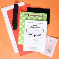 Lucky Dip Club • Fox Sleep Mask DIY Kit