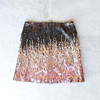 minkpink - moon dust sequin mini skirt