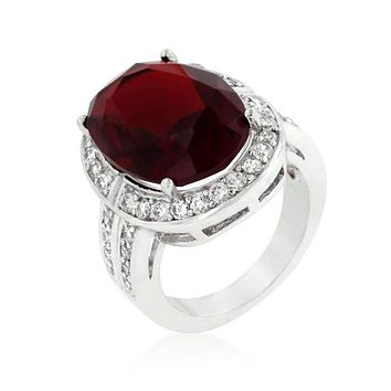 Ruby Red Cocktail Ring JGI