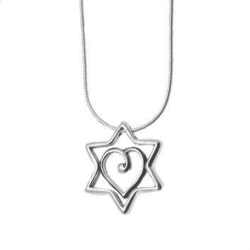 Heart  Star Of David Necklace By Michael Bromberg, Jewelry