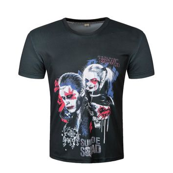 Suicide Squad T Shirt Harley Quinn Hip Hop Pop T-shirt Joker Cool Novelty Funny Style Men Women Printed Fashion