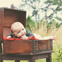 "Trunk Suitcase-Large Wood-Wedding Card Holder-Infant Photo Prop 18"" long x 13.5"" deep x 18"" tall open"