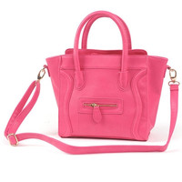 Hot Pink Smile Face Bag