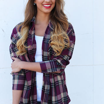 Basically Perfect Plaid Button Up