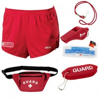 Lifeguard Basics Kit with Dolfin Lifeguard Female Cover-up Short