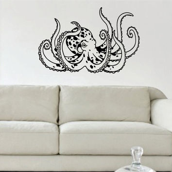 Octopus Version 5 Design Animal Decal Sticker Wall Vinyl Decor Art