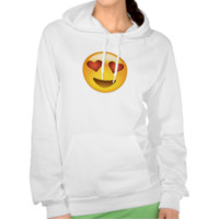 Smiling Face With Heart Shaped Eyes Emoji Hooded Sweatshirt