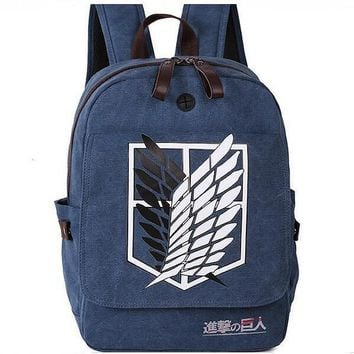 Scouting Legion Canvas Backpacks Japanese Anime Attack On Titan Teenagers School Bookbags 2017 New Fashion Free Shipping