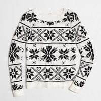 FACTORY SNOWFLAKE FAIR ISLE SWEATER