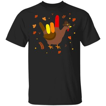 American Sign Language I Love You Thanksgiving Turkey