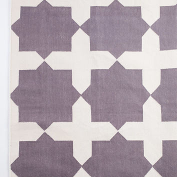 Purple Squares Area Rug in 5x7 ft