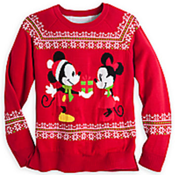 mickey and minnie mouse holiday sweater for women - Mickey Mouse Christmas Sweater