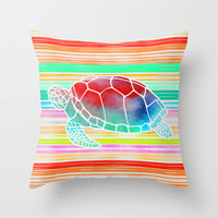 Collage Love: Turtle by Jacqueline & Garima Throw Pillow by Garima Dhawan | Society6