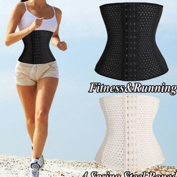 Slimming Body Waist Tummy Trimmer Black 4 Steel Bone