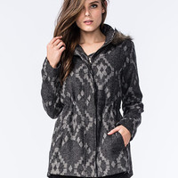 Full Tilt Womens Wool Anorak Gray  In Sizes