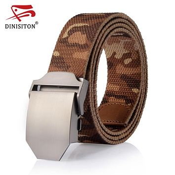 Automatically male Canvas belt High quality Tactical  Military Straps Camouflage man belts Men