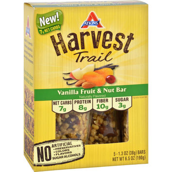 Atkins Harvest Trail Bar - Vanilla Fruit And Nut - 1.3 Oz - 5 Count