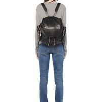 MARTI BACKPACK IN WASHED BLACK WITH ROSE GOLD | BACKPACK | Alexander Wang Official Site