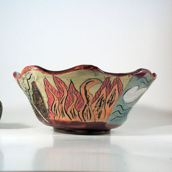 Four elements bowl - Earth, Air, Water, Fire